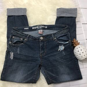 Mossimo Supply Blue Jeans Sz 9 (Z40)